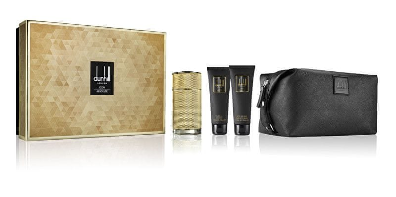 Dunhill Icon Absolute - EDP 100 ml + sprchový gel 90 ml + balzám po holení 90 ml + kosmetická taška