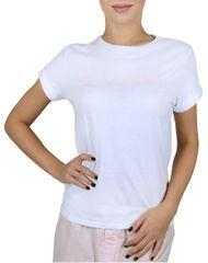Calvin Klein Dámske tričko S / S Crew Neck White w / Nymphs thigh logo QS5789E -YN3