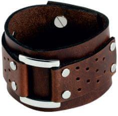 Cow Style Hnědý kožený náramek Vegas CS03-5020