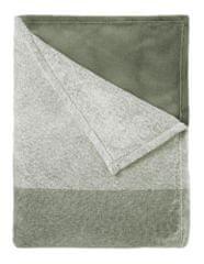 Mistral Home Koc flanelowy khaki 130x170 cm