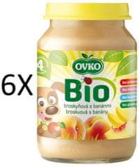 OVKO 6x BIO broskev + banány PT -190g