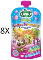 OVKO 8x Jablko+karotka+banán PO - 120g