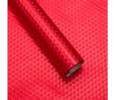 Giftisimo Luxusní strukturovaný balicí papír, červený, vzor obrazce, 5 archů