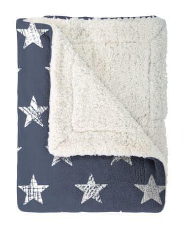 Mistral Home odeja Stars, modra, 130 x 170 cm
