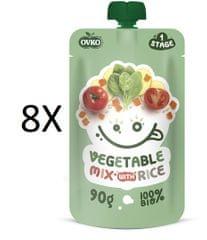 OVKO 8x BIO Zelenin.směs + Rýže PO - 90 g