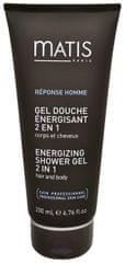 Matis Paris Energizující sprchový gel na vlasy a tělo 2 v 1 Réponse Homme (Energising Shower Gel) 200 ml