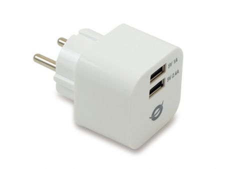 Conceptronic 2-Port USB punjač 3.4A