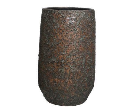 Kaemingk waza ceramiczna, 2 assort, 19 x 30 cm, ręcznie wykonana, brązowa