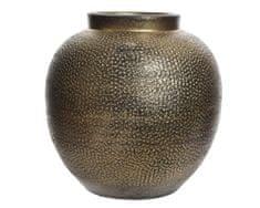 Kaemingk wazon ceramiczny, metaliczny, 19 x 19 cm, ręcznie wykonany, złoty
