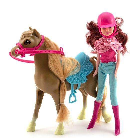 Teddies Koń + lalka dżokejka