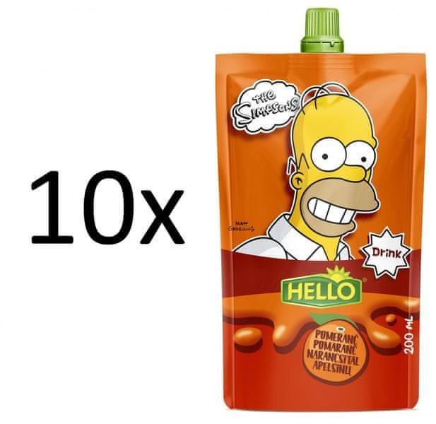 Hello 10x SIMPSONS pomeranč - 200 ml