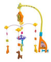 Teddies Kolotoč nad postýlku žirafy hrající