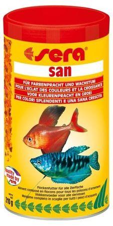 Sera Základní krmivo pro krásné vybarvení akvarijních ryb San 1000ml