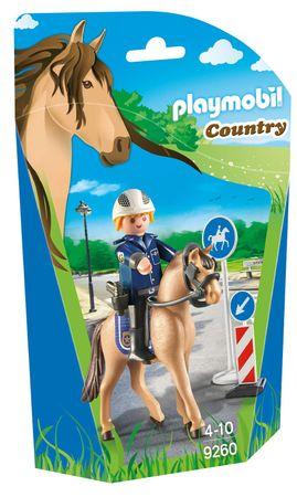Playmobil policist na konju 9260