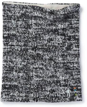 SmartWool šal Merino 250 Rev Pattern Neck Gaiter Black-Moonbeam H Uni, siv
