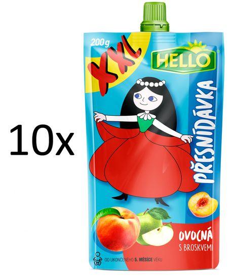 Hello 10x OP XXL s broskvemi - 200 g