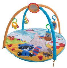Teddies BABY Hrazda pro děti s podložkou a chrastítky