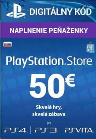 SONY PlayStation Live Cards 50 EUR (SK)