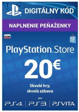 SONY PlayStation Live Cards 20 EUR (SK)