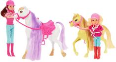 Teddies koń + jeździec 4 szt