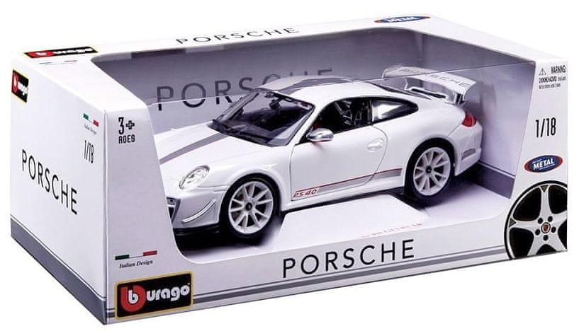 BBurago Porsche 911 GT3 RS 4.0 1:18 - bílé