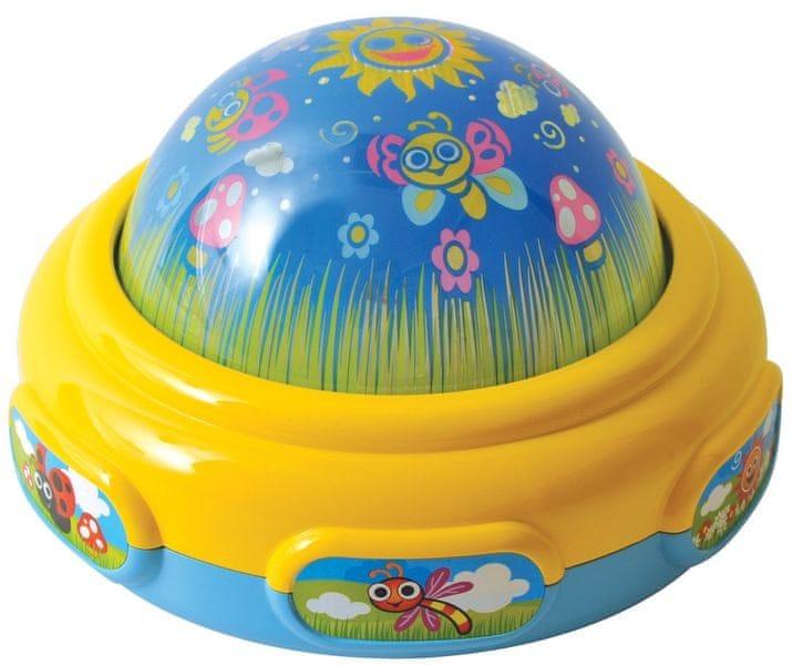 Teddies BABY Lampička/ promítačka na zeď 15 cm se světlem a zvukem
