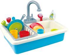 Teddies Dřez na mytí nádobí + kohoutek na vodu na baterie 20 ks