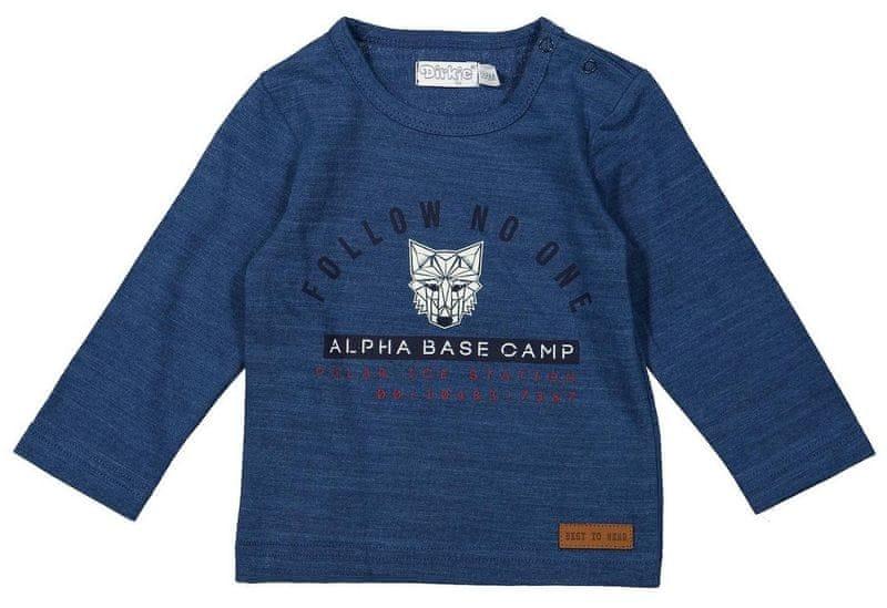 Dirkje chlapecké tričko s vlkem 92 modrá 17ac7e4832