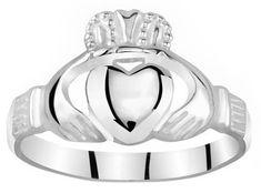 Silvego Dámsky Celostříbrný prsteň Claddagh ZTR96391 striebro 925 1000 7448382ab83