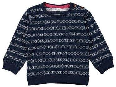 Dirkje fantovski pulover z geometrijskim vzorcem, 98, modra