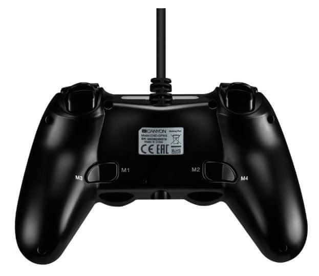 Canyon drátový gamepad pro PS4 (CND-GP5)