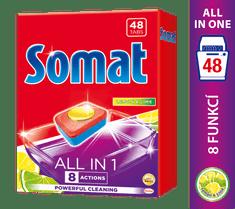 Somat tablete za pomivalni stroj All in One Lemon&Lime, 48 kosov