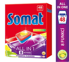 Somat All in One Lemon&Lime 48 tabliet do umývačky