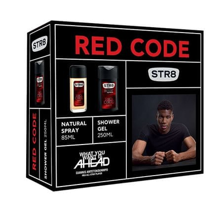 STR8 Red Code - deodorant s rozprašovačem 85 ml + sprchový gel 250 ml