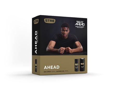 STR8 Ahead - deodorant ve spreji 150 ml + sprchový gel 250 ml