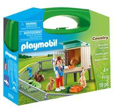 Playmobil kovček zajčja kletka, 9104