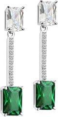 Morellato Strieborné náušnice so zelenými kryštály Tesoro SAIW56 striebro 925/1000