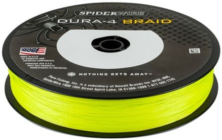 Spiderwire Splietaná Šnúra DURA4 150 m Yellow 0,40 mm, 45 kg