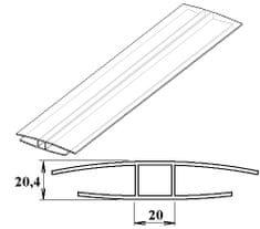 LanitPlast Polykarbonátový H-profil 16 mm 3 m