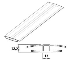 LanitPlast Polykarbonátový H-profil 8 - 10 mm 6 m