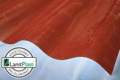 LanitPlast Sklolaminát vlna 130/30 síla 1,2 mm červený