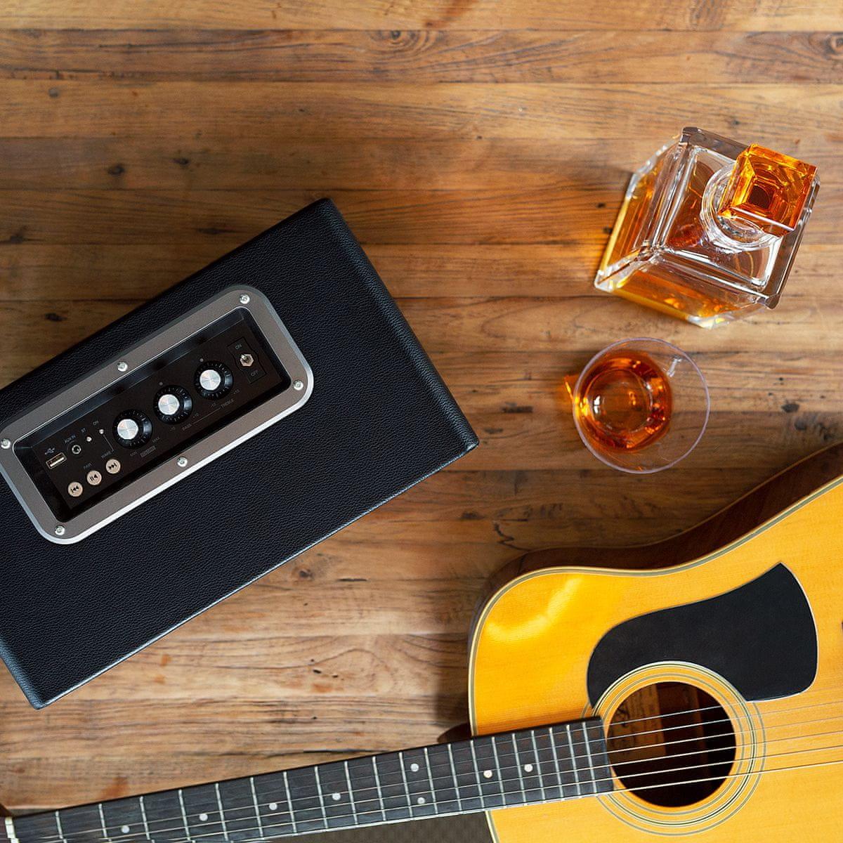 bluetooth zvočnik Niceboy BOOGIE classic ima potencimeter za upravljanje basa in visokih tonov