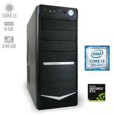 mimovrste=) namizni računalnik Force i3-8100/8GB/SSD240GB/GTX1050/FreeDOS (ATPII-CX3-7743)