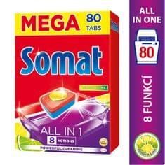 Somat tablete za pomivalni stroj All in One Lemon&Lime, 80 kosov