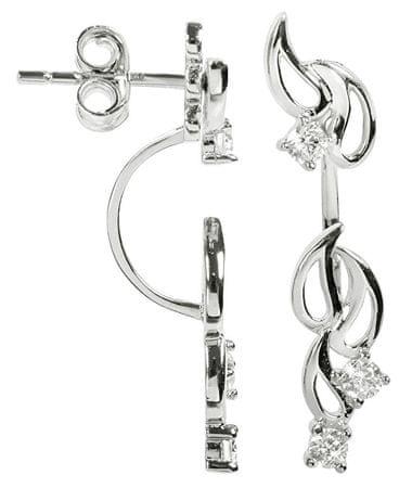 Silver Cat Dupla ezüst fülbevaló cirkónia kővel SC229 ezüst 925/1000