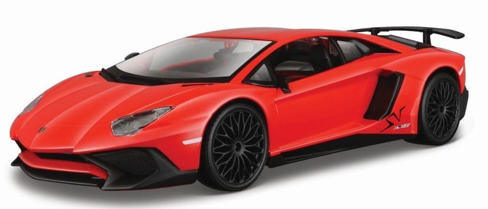 BBurago Lamborghini Aventador SV coupe 1:24 - červené
