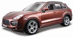 BBurago Kit Porsche Cayenne Turbo 1:24 hnědá