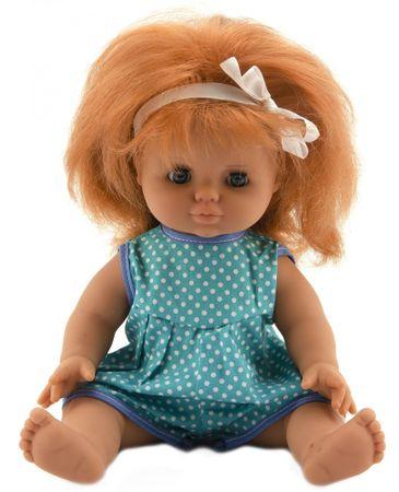 Teddies lalka 30 cm, niebieskie ubranko w kropki