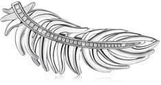 Brosway Peříčková brož Plume BUM41