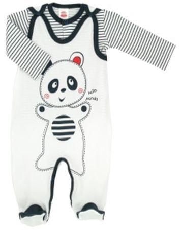 Makoma Komplet chłopięcy Panda 56 biały/czarny